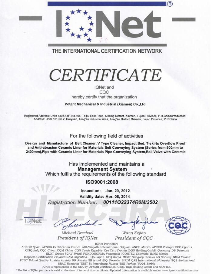 CQC ISO 9001-2008-2